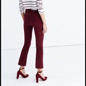 Madewell Cali Demi Boot in Velvet — Size 29